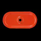 Plaquette 82 x 40 mm en acier nervurée