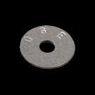 Rondelle plate en acier